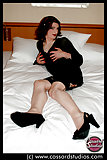 Cassy Cassard plays with two crossdressers