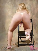 Comely blonde tranny pics
