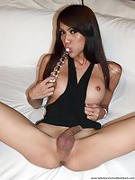 Anal toys and bareback sex for TS