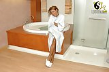 Superb tgirl in jacuzzi