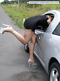 Tgirl masturbating in her car