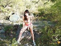 TS Mariana Cordoba naked and stroking