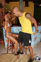 Ebony Brazilian Tranny Gives Blowjob & Assfucked