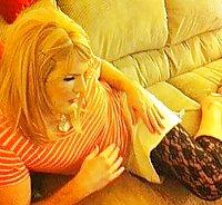 Pretty blonde sissy