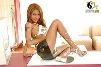Shemale Areeya On High Heels Poses