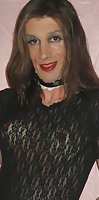 Natasha Brittney is CD in black lingerie