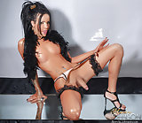 Super hot shemale with a long erect shecock