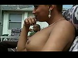 Tgirl outdoor interracial ramming