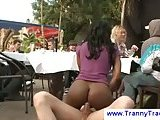 Black tranny waitress gets banged