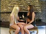 Blonde Tgirl drills brunette