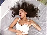 Titty brunette shemale fucked &amp; jizzed