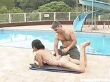 Shemale outdoor hot banging by pool