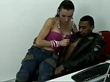 Hot interracial in the office