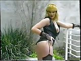 Fucking vintage story for lingeried blonde tranny
