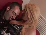 Blonde tranny rammed from behind