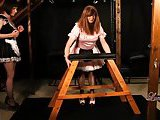 Kinky TGirl Maid Luci May has fun spanking Crossdressers tight Ass