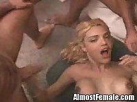 Double Anal Shemale Fucking