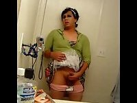 Amateur Transsexual Filming His Wanking