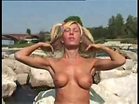 Stunning Blonde Tranny For Furious Motions