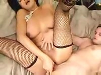 Busty tigress is burning with a desire