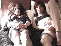 Homemade crossdressers having fun
