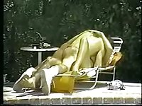 Vintage outdoor bonking
