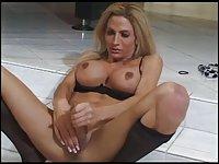 Titty blonde tranny solo