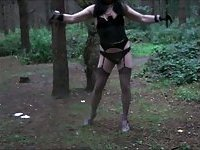 Candi goes into the woods