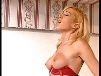Sweet girl with horny tranny
