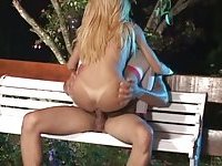 Amazing anal sex outdoor with a Latina TS
