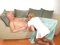 Blonde TS nurse gets screwed