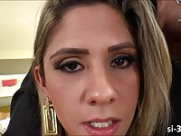 Attractive brazilian tgirl Nicole Bahls gets her ass drilled