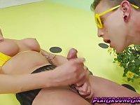 Sexy hot tranny Danni Daniels loves to jerk