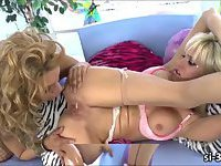 Lusty tgirl Jessy Dubai intensely fucks sultry shemale Mikky Lyn