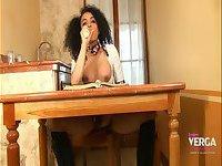 Schoolgirl Keira Verga In Pigtails Finds Her Cock More Interesting Than Homework