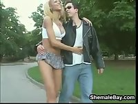 Hot Blonde Shemale Fucking
