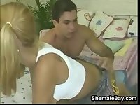 Hot Blonde Shemale Fucking