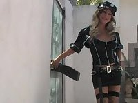 Tranny cop Ariel Everits bangs her lovers tight ass in hardcore anal