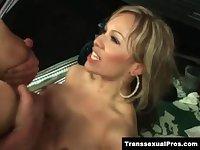 TS Celeste takes a hard anal pounding