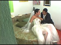 Bride tranny fucks man ass