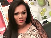 Ladyboy Cindy Snakeskin Dress Rimming