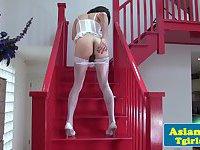 Thai tgirl Naomi solo scene in lingerie