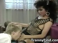 Pretty vintage shemale sex