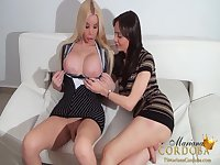 Ana and Mariana sucking session