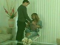 Small tits Latina TS gets rammed