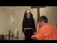 Naughty TS Nun Dominates a Guy