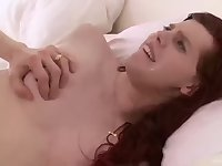 Guys tool for a skilful redhead tranny chick