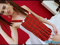 Skinny teen TS New analed by big dick