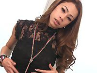 Red-hot Ladyboy Noi Stroking and Toying