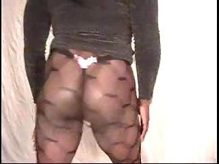 Chubby Crossdresser Teasing In Pantyhose